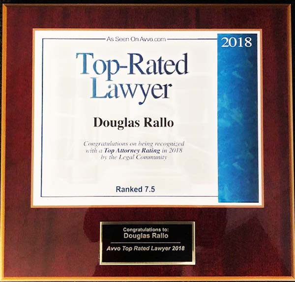 AVVO Top Rated Lawyer 2018 Douglas Rallo